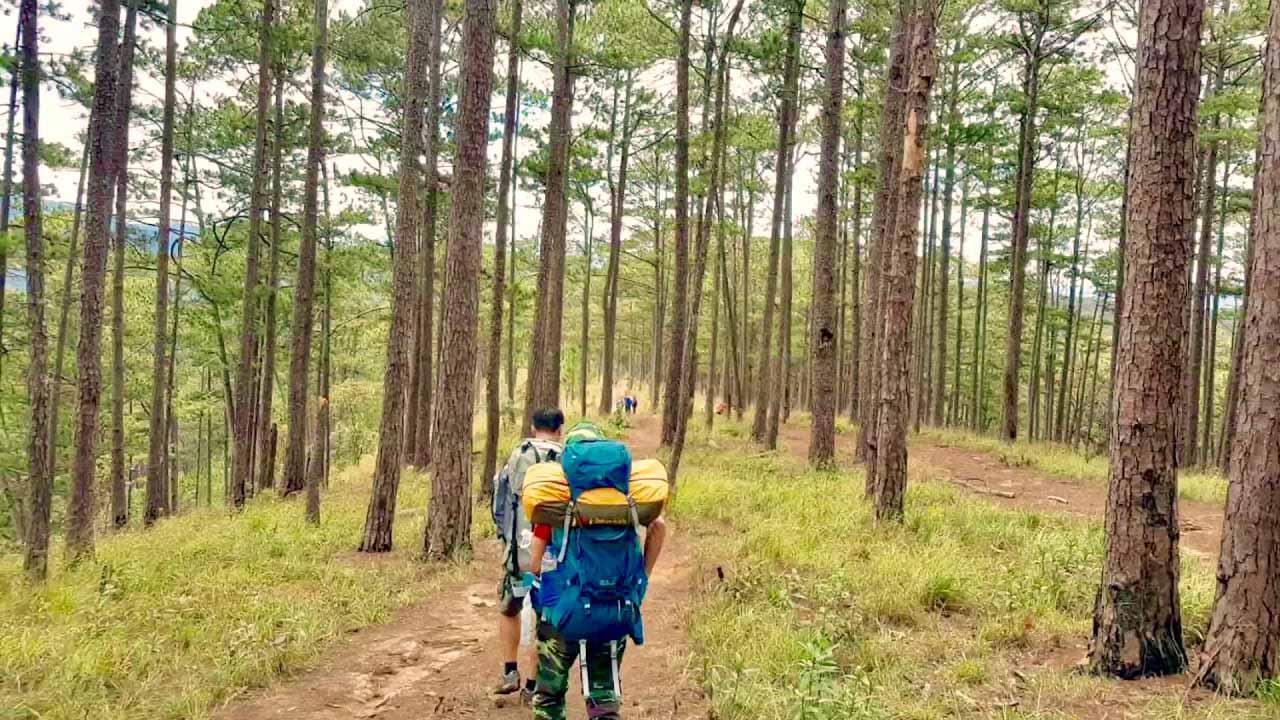 trekking cắm trại ở Langbiang